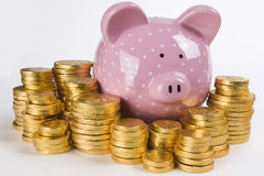 Piggy Bank and Money Stock Photography