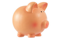 Piggy bank money box isolated on a white background Royalty Free Stock Image