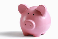 Piggy bank money box isolated on a white Stock Photography