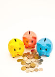 Piggy bank money boxes. Colorful piggy bank money boxes Royalty Free Stock Photography
