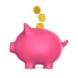 Piggy Bank and Money Coin Stock Images