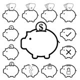 Piggy Bank money icon , banking finance and saving Royalty Free Stock Photo