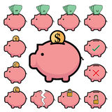 Piggy Bank money icon , banking finance and saving Stock Images