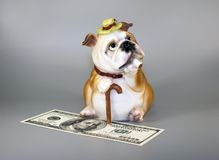 Piggy bank for money, represented in the image of an oligarch Stock Photo
