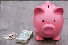 Piggy-bank /money savings / concept of growth Stock Photo