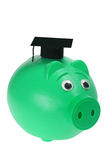 Piggy Bank with Mortarboard Stock Image