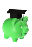 Piggy Bank with Mortarboard Royalty Free Stock Images