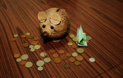 Piggy Bank? Mousy Bank! Stock Photo