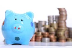 Piggy bank officer Stock Photography