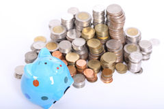 Piggy bank officer Royalty Free Stock Photo