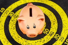 Piggy Bank on Old Target Board Stock Images