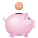 Piggy bank one euro cent Stock Photos