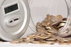 Piggy bank open Royalty Free Stock Photography