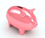 Piggy bank over white background Stock Image
