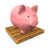 Piggy Bank Pallet Royalty Free Stock Photo