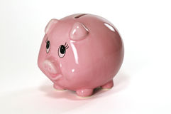 Piggy Bank & Penny Royalty Free Stock Photography