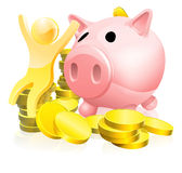 Piggy bank person Royalty Free Stock Photos