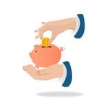 Piggy bank pig vector illustration. Royalty Free Stock Photos
