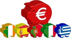 Piggy bank piigs euro Royalty Free Stock Photos