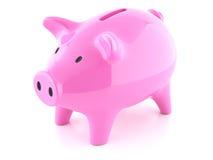 Piggy bank pink Stock Photography