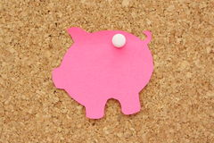 Piggy Bank Post It Royalty Free Stock Images