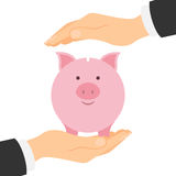 Piggy bank protection. Stock Images