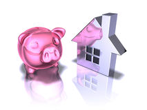 Piggy bank real estate Royalty Free Stock Images