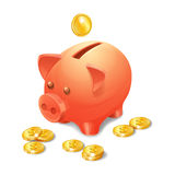 Piggy Bank Realistic Royalty Free Stock Photography