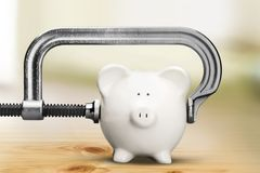 Piggy Bank Recession Stock Images