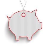 Piggy Bank Red Price Sticker Stock Images