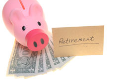 Piggy bank for retirement Stock Image