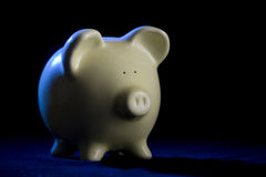 Piggy Bank with Rim-Light Royalty Free Stock Image