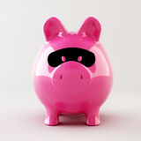 Piggy bank robber Royalty Free Stock Images