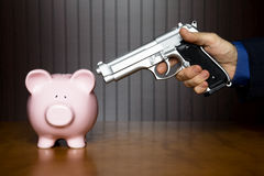 Piggy bank robbery Stock Photography