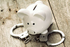 Piggy bank robbery Royalty Free Stock Photo