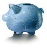 Piggy bank and safe. Metal piggy bank and safe Royalty Free Stock Image