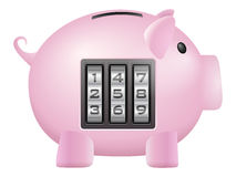 Piggy bank safe Stock Image