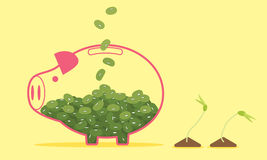 Piggy Bank, Save the Environment Vector Royalty Free Stock Photography
