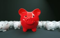 Piggy Bank save money investment Royalty Free Stock Photography