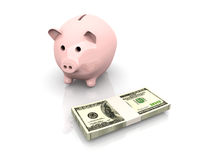 Piggy bank saving Stock Photos