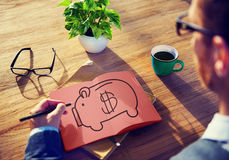 Piggy Bank Saving Money Economize Profit Concept Royalty Free Stock Photography