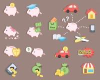 Piggy bank saving money Royalty Free Stock Image