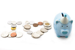 Piggy bank saving money No.21 Stock Images