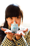 Piggy bank saving money No.22 Royalty Free Stock Photos