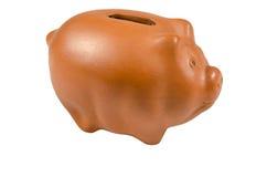 Piggy-bank. For saving money on white studio background Stock Photography