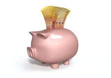Piggy Bank Saving South African Rands Royalty Free Stock Photo