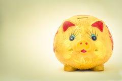 Piggy bank saving Royalty Free Stock Photo