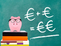 Piggy Bank with savings formula Stock Images
