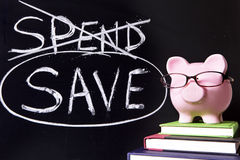 Piggy Bank with savings message Stock Photos