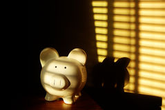 Piggy Bank for Savings and Money Stock Photo